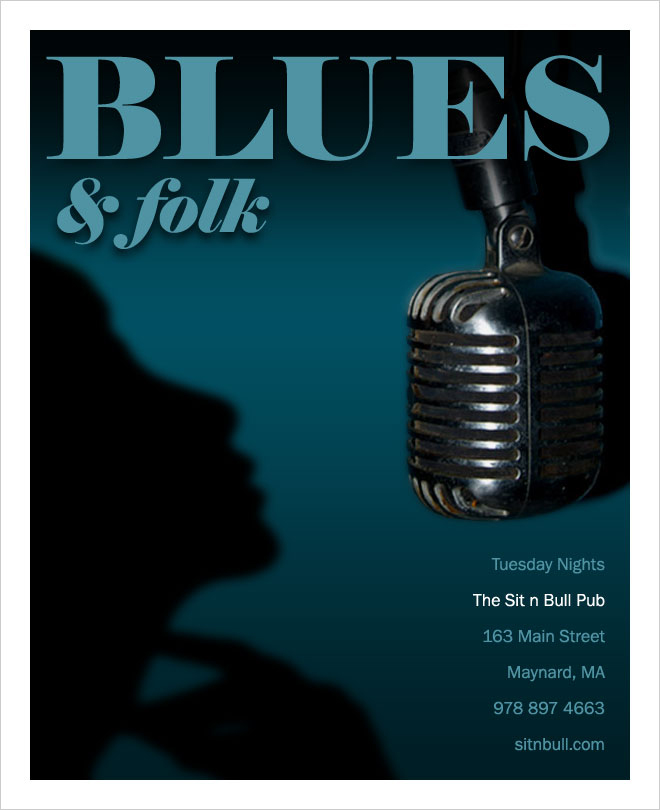 Blues poster design